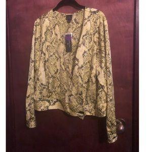 Neon yellow Snake skin pattern jacket